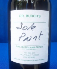 T.T. Distributors Dr. Burch's Sole Paint